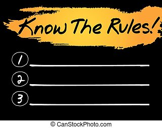 Know The Rules Blank List, vector concept background