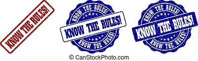 KNOW THE RULES! Grunge Stamp Seals