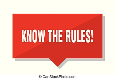 know the rules! red tag
