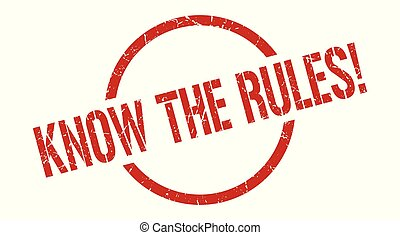 know the rules! red round stamp