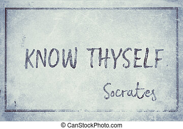 know thyself Socrates cyan - famous ancient Greek ...