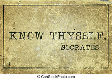 know thyself - ancient Greek philosopher Socrates quote...