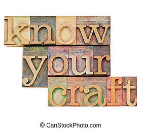 know your craft in letterpress type