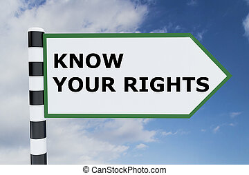 Know Your Rights concept - Render illustration of Know Your...