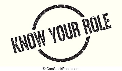 know your role stamp - know your role black round stamp