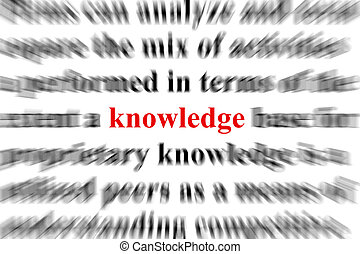 Knowledge - a conceptual image representing a focus on...