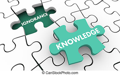 Knowledge Beats Ignorance Intelligence Vs Stupidity Puzzle...