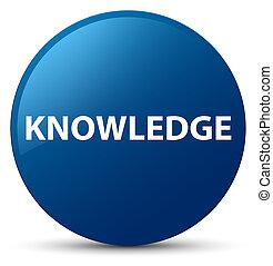 Knowledge blue round button