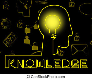 Knowledge Brain Showing Know How And Wisdom