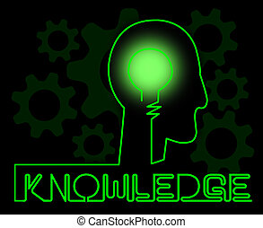 Knowledge Brain Showing Know How And Wisdom - Knowledge...