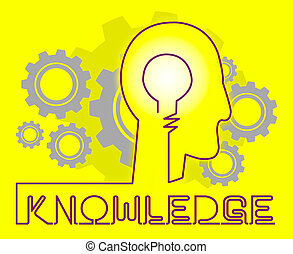 Knowledge Cogs Showing Know How And Wisdom - Knowledge Cogs...