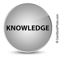 Knowledge elegant white round button