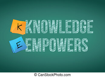 knowledge empowers business concept illustration design ...