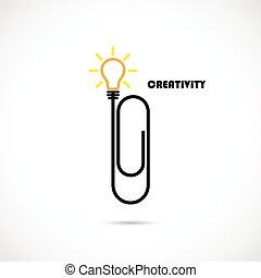 knowledge., empresa / negocio, clip, papel, concept., ...
