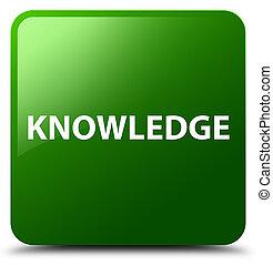 Knowledge green square button