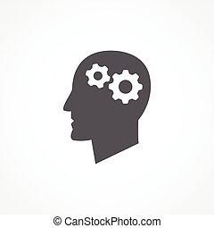 Knowledge icon - Gray Knowledge icon on white