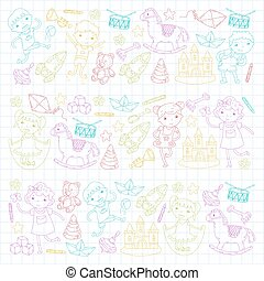 Knowledge Imagination Fantasy Kids drawing style Creative...