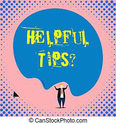 knowledge., informatie, gegeven, of, behulpzaam, zakelijk, zijn, foto, raad, question., schrijvende , conceptueel, geheim, showcasing, tips, hand, het tonen