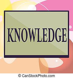knowledge., informazioni, affari, abilità, foto, esposizione, esperienza, scrittura, concettuale, attraverso, mano, testo, fatti, acquired, educazione, o