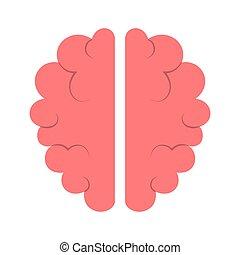 knowledge., intelligentie, symbool, creatief, icon., mind., hersenen