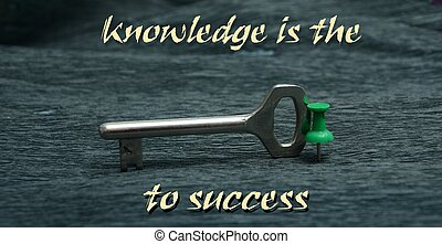 knowledge is key to sucess
