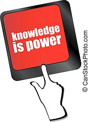 knowledge is power button on computer keyboard key vector