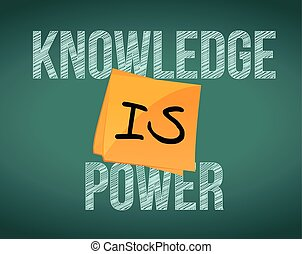 knowledge is power message illustration