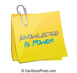 knowledge is power post message. illustration