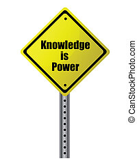Knowledge is power Street sign. Vector file available.