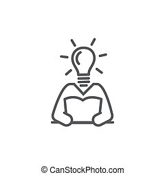 Knowledge line icon on white background