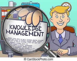 Knowledge Management through Lens. Doodle Concept.