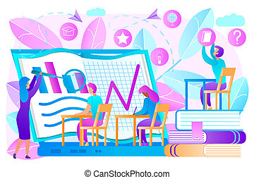 Knowledge Online Training Flat Vector Concept