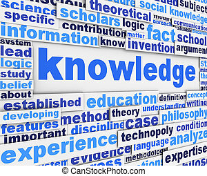 Knowledge poster design. Education message conceptual ...