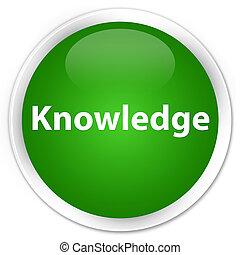Knowledge premium green round button