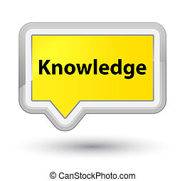 Knowledge prime yellow banner button