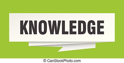 knowledge sign. knowledge paper origami speech bubble....