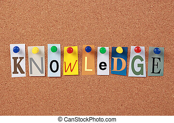 Knowledge Single Word - The word Knowledge in cut out...