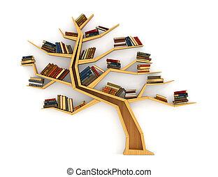 knowledge., sobre, concepto, forma humana, de madera,...
