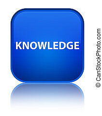 Knowledge special blue square button