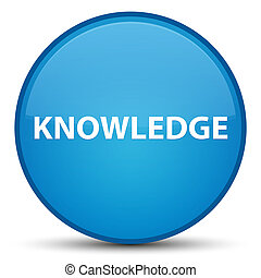 Knowledge special cyan blue round button