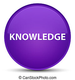 Knowledge special purple round button