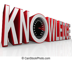 Knowledge Speedometer Word Learning is Power - The word...