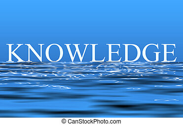 Knowledge - An illustration of the word knowledge reflecting...