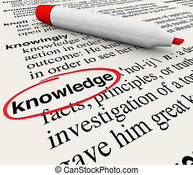 Knowledge Word Dictionary Definition Cirlced