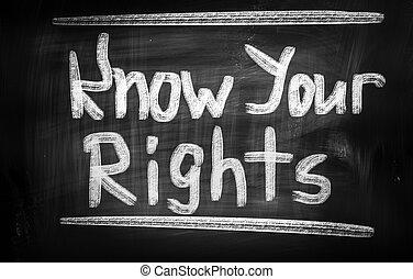 knowyour, concept, droits