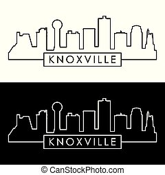 Knoxville skyline. Linear style.