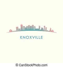 Knoxville skyline silhouette.