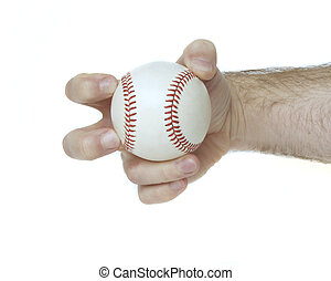 Knuckleball Grip - Illustrates how to hold a baseball to ...