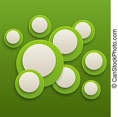 koła, abstrakcyjny, zielony, broszura, tło