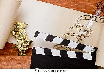 kołatka, aktorskie maski, film